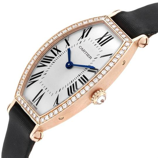 Cartier Cartier Tonneau 18K Yellow Gold Diamond Ladies Watch WE400331 Image 4