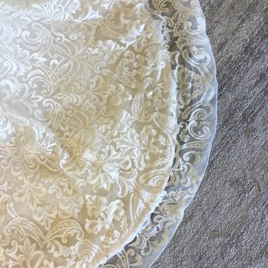 Casablanca Couture Vintage Gold/Silver Embroidered Lace/Duchess Satin C137 Gemma Formal Wedding Dress Size 12 (L) Image 7