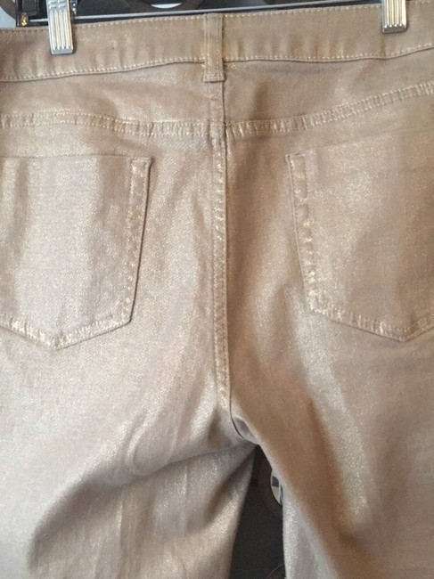 Chico's Straight Leg Jeans-Coated Image 1