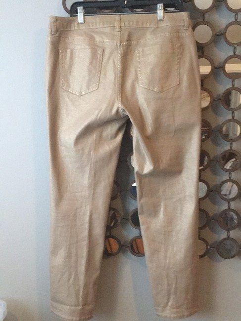 Chico's Straight Leg Jeans-Coated Image 2