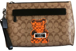Coach Wristlet in Tan/Black
