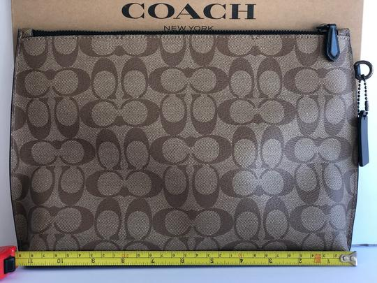 Coach Wristlet in Tan/Black Image 1