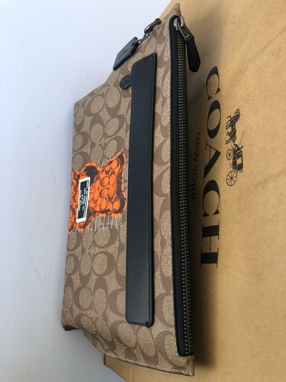 Coach Wristlet in Tan/Black Image 2