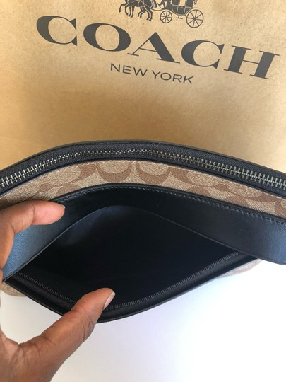 Coach Wristlet in Tan/Black Image 3