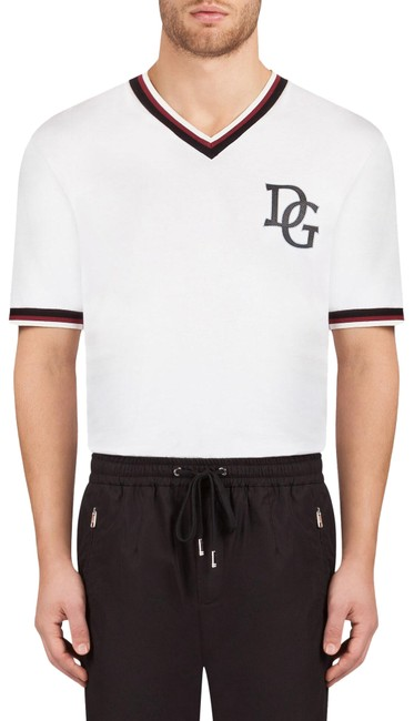 Preload https://img-static.tradesy.com/item/26131381/dolce-and-gabbana-white-mens-dg-millennials-contrast-edge-corona-t-shirt-tee-shirt-size-4-s-0-3-650-650.jpg