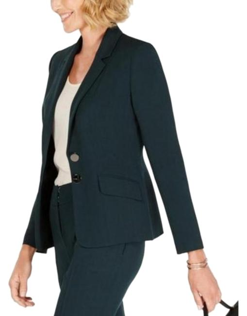 Item - Green Two-button Faux Pockets Jacket Blazer Size 18 (XL, Plus 0x)