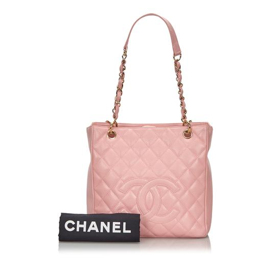 Chanel 9ichto002 Vintage Cowhide Leather Tote in Pink Image 10