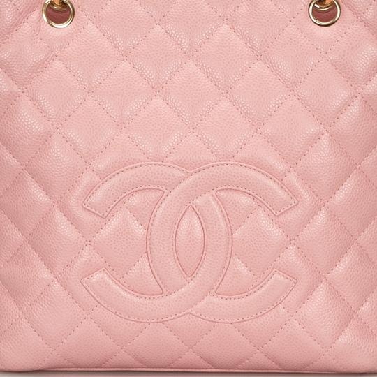 Chanel 9ichto002 Vintage Cowhide Leather Tote in Pink Image 11