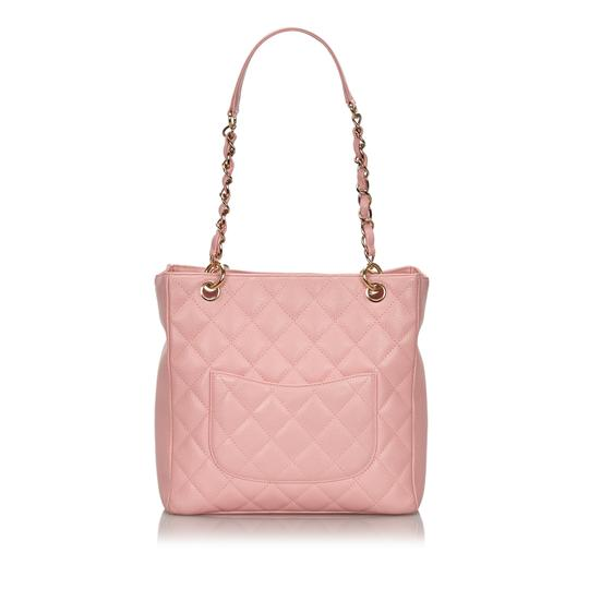 Chanel 9ichto002 Vintage Cowhide Leather Tote in Pink Image 2