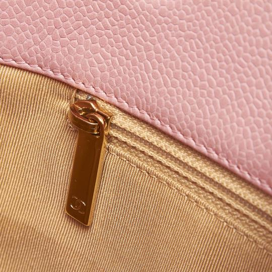 Chanel 9ichto002 Vintage Cowhide Leather Tote in Pink Image 7