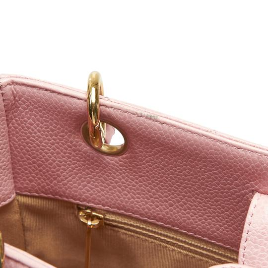 Chanel 9ichto002 Vintage Cowhide Leather Tote in Pink Image 8