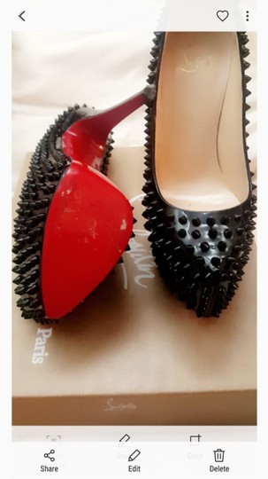 Christian Louboutin Box And Bag Still In Tact Black patent leather spike Pumps Image 2