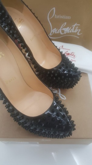 Christian Louboutin Box And Bag Still In Tact Black patent leather spike Pumps Image 4