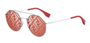 Fendi Fendi Sunglasses EYELINE Red Round Graphic FFM0021S KWX W