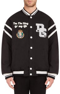 Dolce&Gabbana Men's Cordura Bomber Patch Jacket