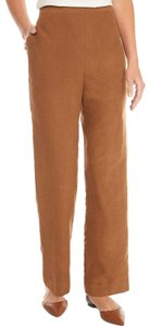 Alfred Dunner Monochrome Elastic Pockets Trouser Pants Brown