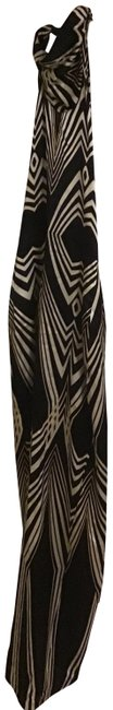 Item - Black/White Off Long Night Out Dress Size 0 (XS)