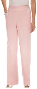 Alfred Dunner Monochrome Elastic Pockets Trouser Pants Pink