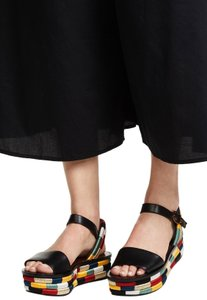 Tory Burch Multi color, Black Platforms