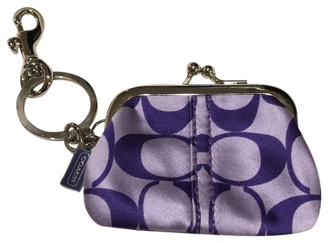 Coach Purple Change Purse Keychain Coach Purple Change Purse Keychain Image 1