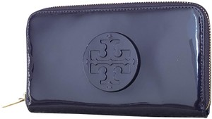 Tory Burch Stacked Patent Zip Continental Wallet