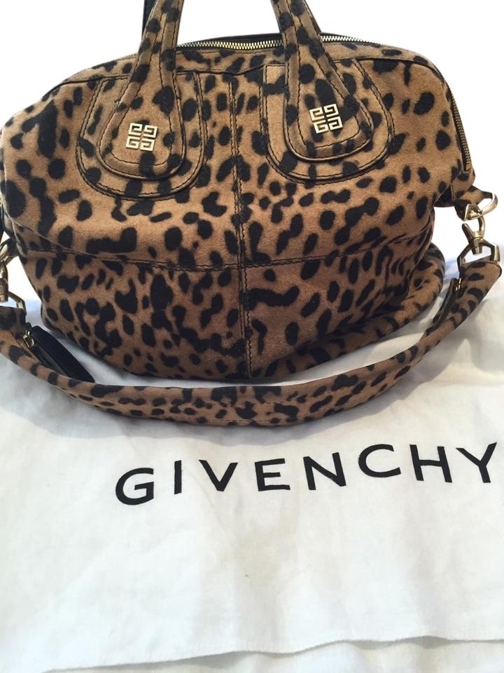 733773b0a836 Givenchy Leopard Print Nightingale Brown and Black Leather Tote ...