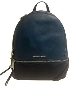 Michael Kors Abbey Md & Matching Wallet Signature Mk BrownDk Sangria Leather Backpack