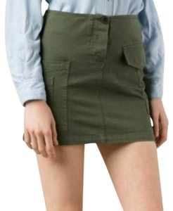 Band of Outsiders Mini Skirt Olive Green