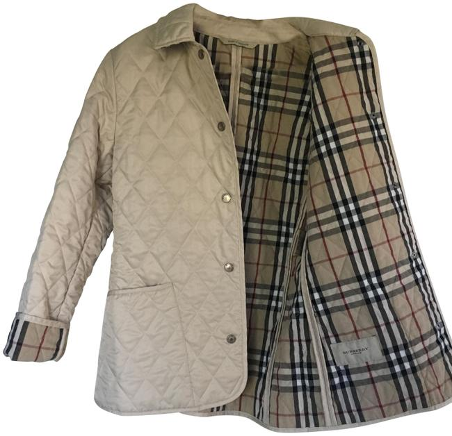 Item - Beige London Classic Quilted Coat. Jacket Size 2 (XS)