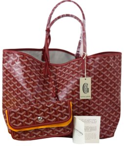 Goyard Saint Louis Louis Vuitton Canvas Tote in Red