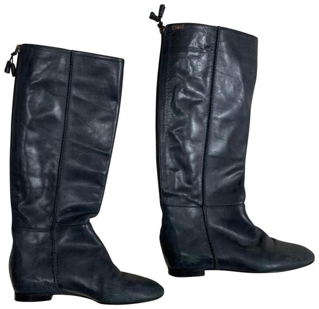 Item - Gray Leather Riding Boots/Booties Size EU 37 (Approx. US 7) Regular (M, B)