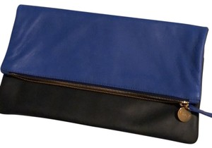 Clare V. Navy and Cobalt Clutch