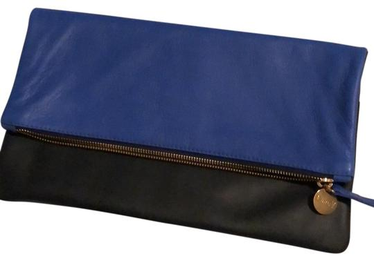 Preload https://img-static.tradesy.com/item/26134183/clare-v-fold-over-cobaltnavy-navy-and-cobalt-leather-clutch-0-4-540-540.jpg