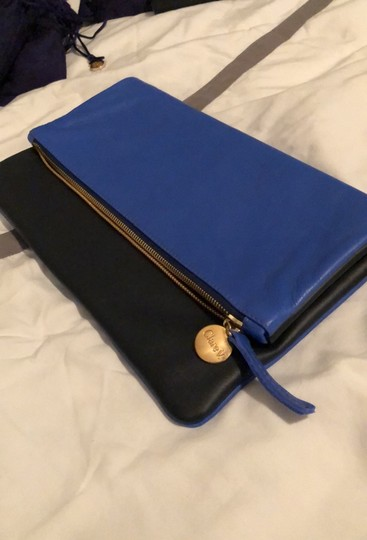 Clare V. Navy and Cobalt Clutch Image 1