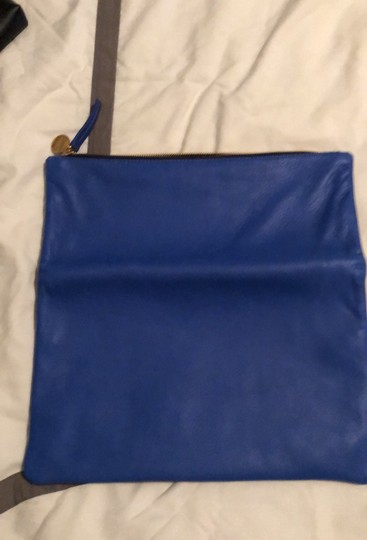 Clare V. Navy and Cobalt Clutch Image 3