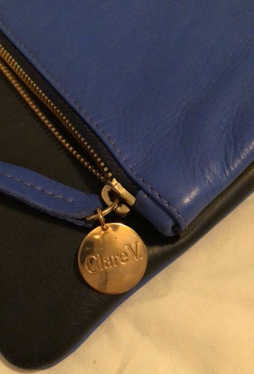Clare V. Navy and Cobalt Clutch Image 7