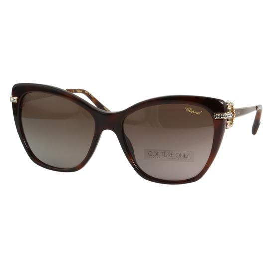 Chopard New Imperiale SCH232S 9XKP Women Jeweled Polarized Cat Eye Sunglasses Image 10