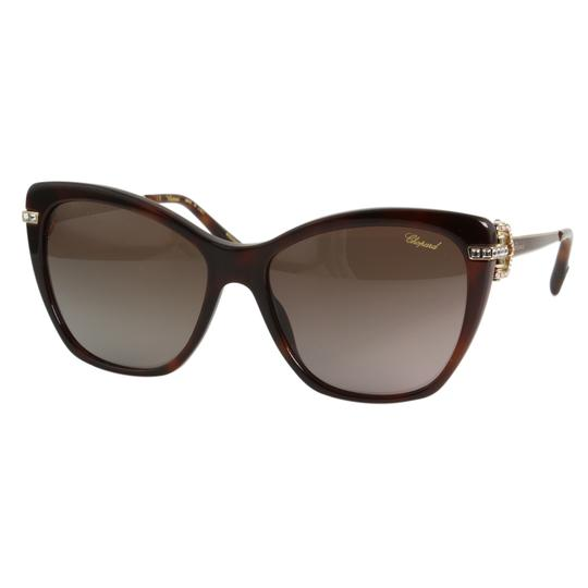 Chopard New Imperiale SCH232S 9XKP Women Jeweled Polarized Cat Eye Sunglasses Image 2