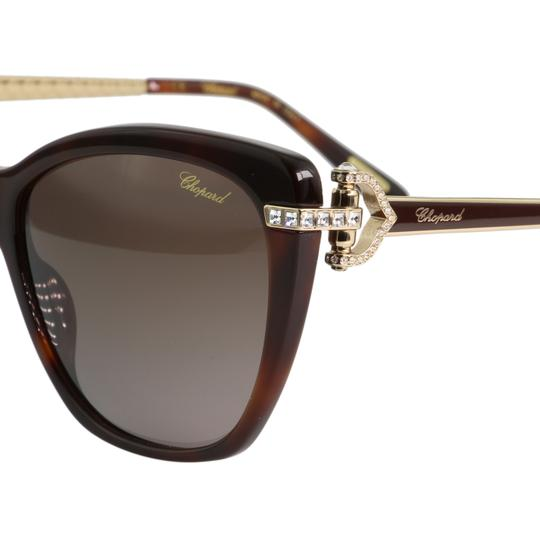 Chopard New Imperiale SCH232S 9XKP Women Jeweled Polarized Cat Eye Sunglasses Image 3