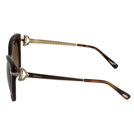 Chopard New Imperiale SCH232S 9XKP Women Jeweled Polarized Cat Eye Sunglasses Image 5