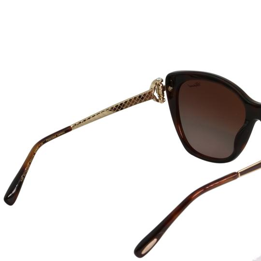 Chopard New Imperiale SCH232S 9XKP Women Jeweled Polarized Cat Eye Sunglasses Image 7
