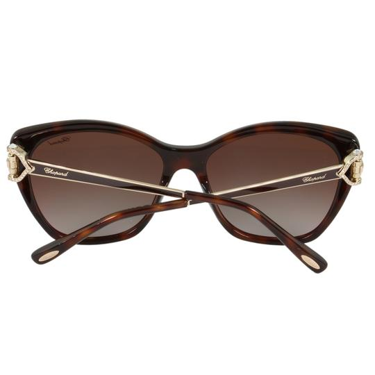Chopard New Imperiale SCH232S 9XKP Women Jeweled Polarized Cat Eye Sunglasses Image 9