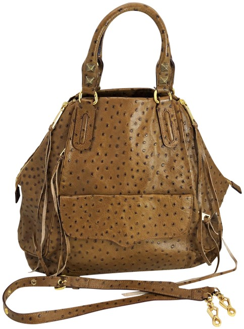 Item - Ostrich Romeo Brown Leather Satchel