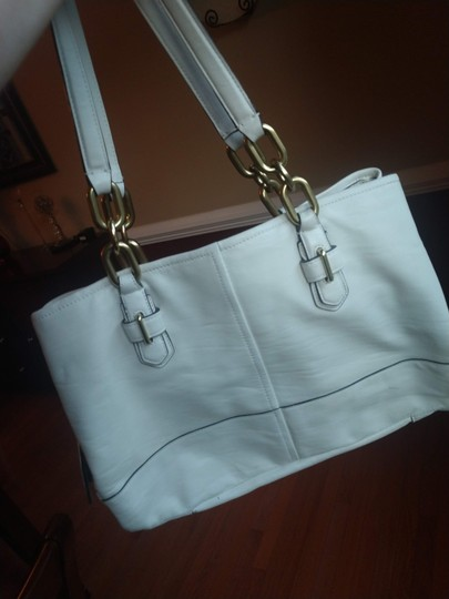 Coach Satchel in Ivory Image 1