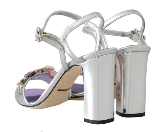 Dolce&Gabbana Purple, Silver Sandals Image 2
