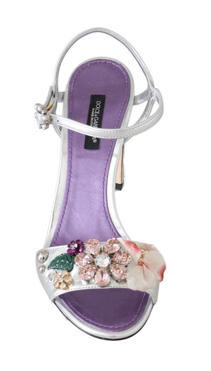 Dolce&Gabbana Purple, Silver Sandals Image 5