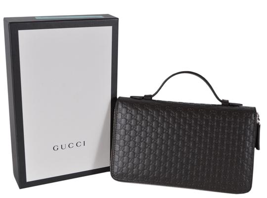 Gucci New Gucci 449246 Large Leather GG Guccissima Double Zip Travel Wallet Image 3