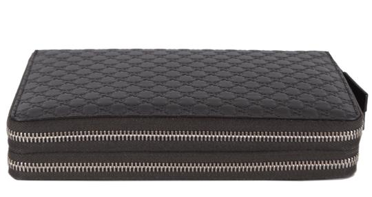 Gucci New Gucci 449246 Large Leather GG Guccissima Double Zip Travel Wallet Image 4