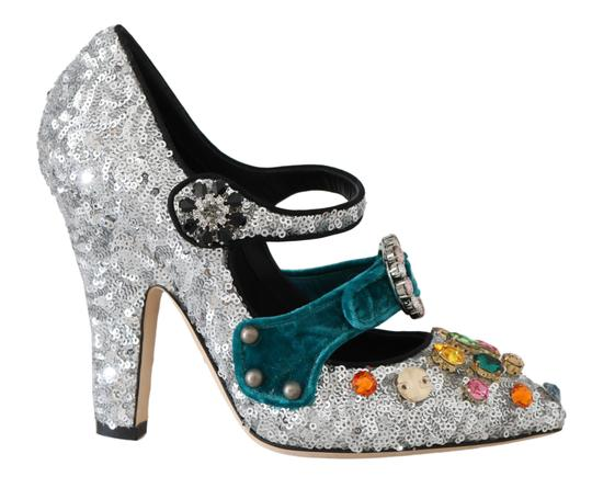 Preload https://img-static.tradesy.com/item/26134314/dolce-and-gabbana-black-silver-sequined-crystal-mary-pumps-size-eu-35-approx-us-5-regular-m-b-0-0-540-540.jpg