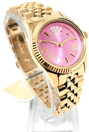 Preload https://img-static.tradesy.com/item/26134331/michael-kors-gold-tonepink-lexington-new-women-s-petite-mk4363-watch-0-4-540-540.jpg